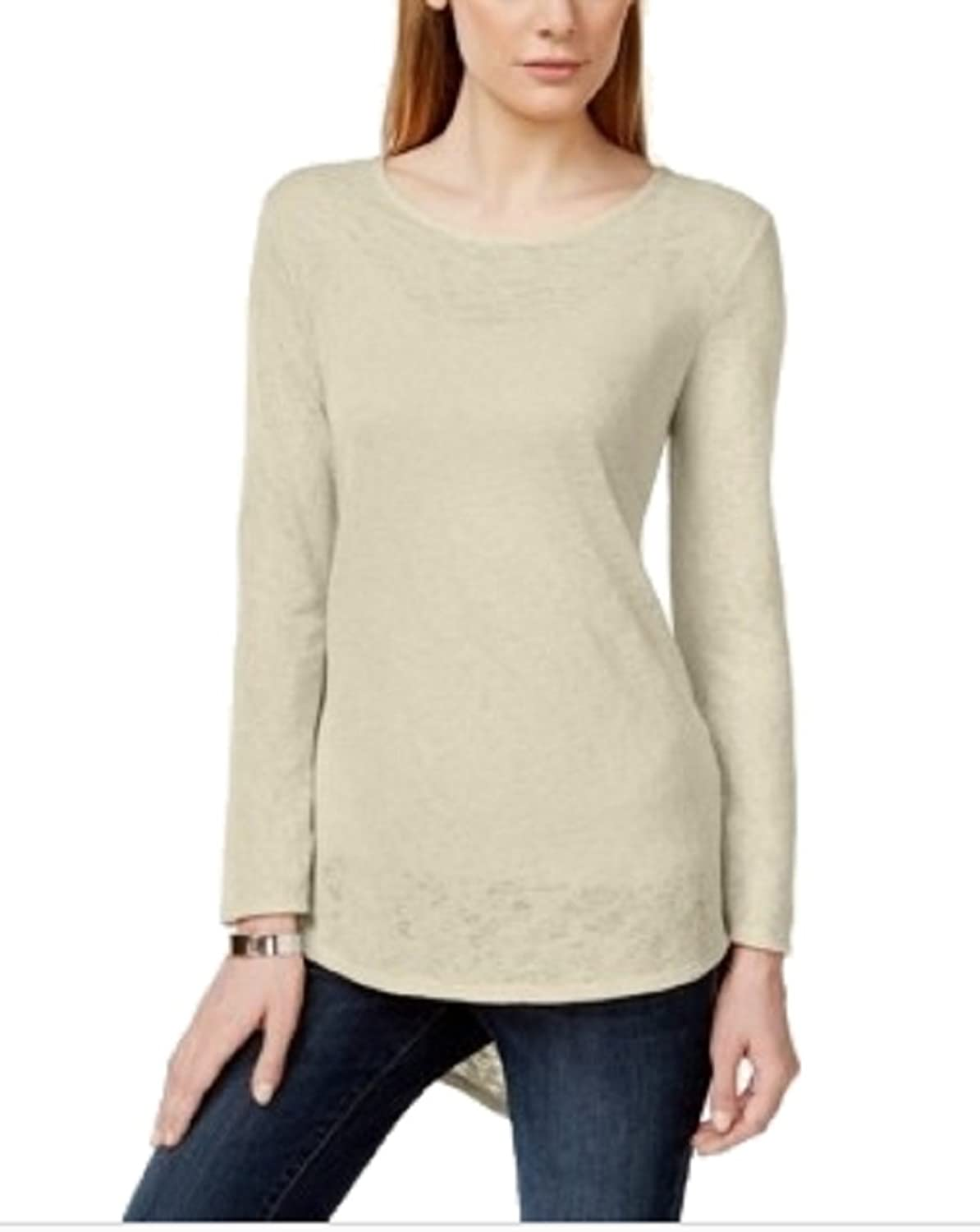 Style Co. Long-sleeve High-low Pocket T- Stonewall M