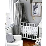 Favoridol Baby Dome Bed Canopy Cotton Mosquito Netting Children Kids Princess Play Tents (Gray)