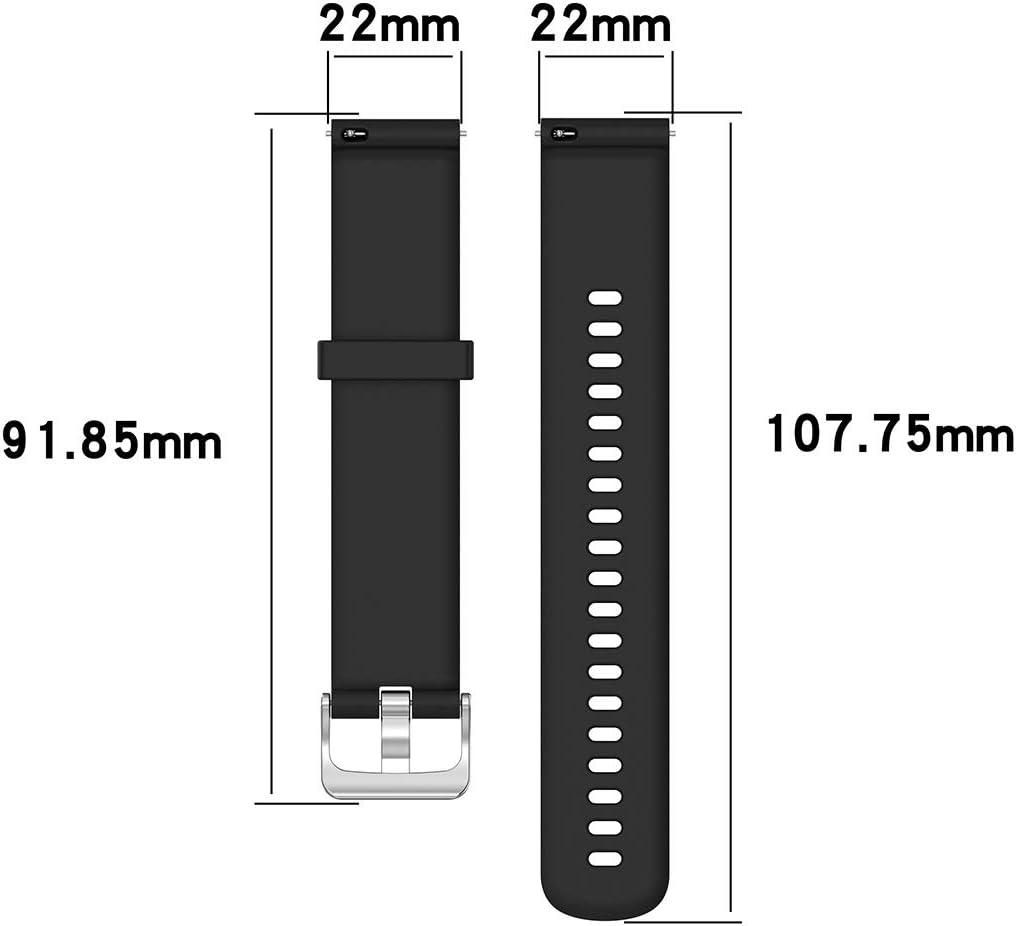 Husgrtyer YHM 22mm Texture Silicone Poignet Bracelet Bande for Fossil Hybrid Smartwatch HR, Homme Gen 4 Explorist HR, Homme Sport (Noir) (Color : Dark Blue) Dark Blue