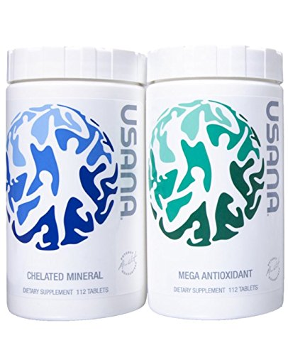 Essential 4 Nutrition Pack - Usana Essentials - 4 Week Supply of Total Body Health, Pack of Mega Antioxidant & Chelated Mineral, 112 tablets each