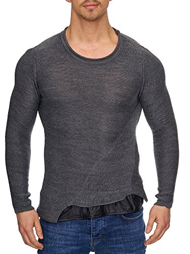 Styler Tazzio Anthracite Pull 16494 Tricot Pour En Homme 5PPq0nx4