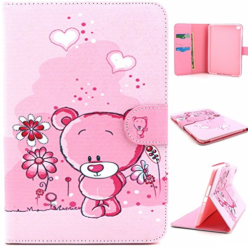 iPad Mini4 Case,Vivi Shop Ultra Slim Keep Calm Printed Cute Design Flip Stand Leather Magnetic Case [Auto Wake/Sleep Function] Smart Cover for Apple iPad Mini4 (bear)