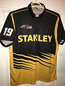 Large Daniel Suarez Stanley Tools Authentic Team Issued Nascar Pit Crew Shirt Racing Toyota TRD JGR Joe Gibbs Racing