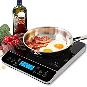 duxtop lcd 1800 watt portable induction cooktop countertop burner 9600ls kitchen. Black Bedroom Furniture Sets. Home Design Ideas