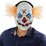 Evil Satanic Demon Scary Clown Horror Halloween One Size Evil Sewed Mouth Shut Evil Clown Mask