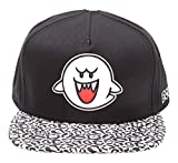 Nintendo Super Mario Bros Animal Boo Ghost Snapback Cap - One Size | White/Black