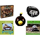 "Children's Fun & Educational Gift Bundle - Ages 6-12 [5 Piece] - The Lord of The Rings Stratego Game - Finger Beats Mixer Toy - Angry Birds Black Bird Plush 5"" - Reminisce Growing Up, The Magical M"