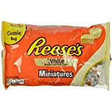 REESE'S Peanut Butter Cup Miniatures (White Chocolate, 12-Ounce Bags, Pack of 4)