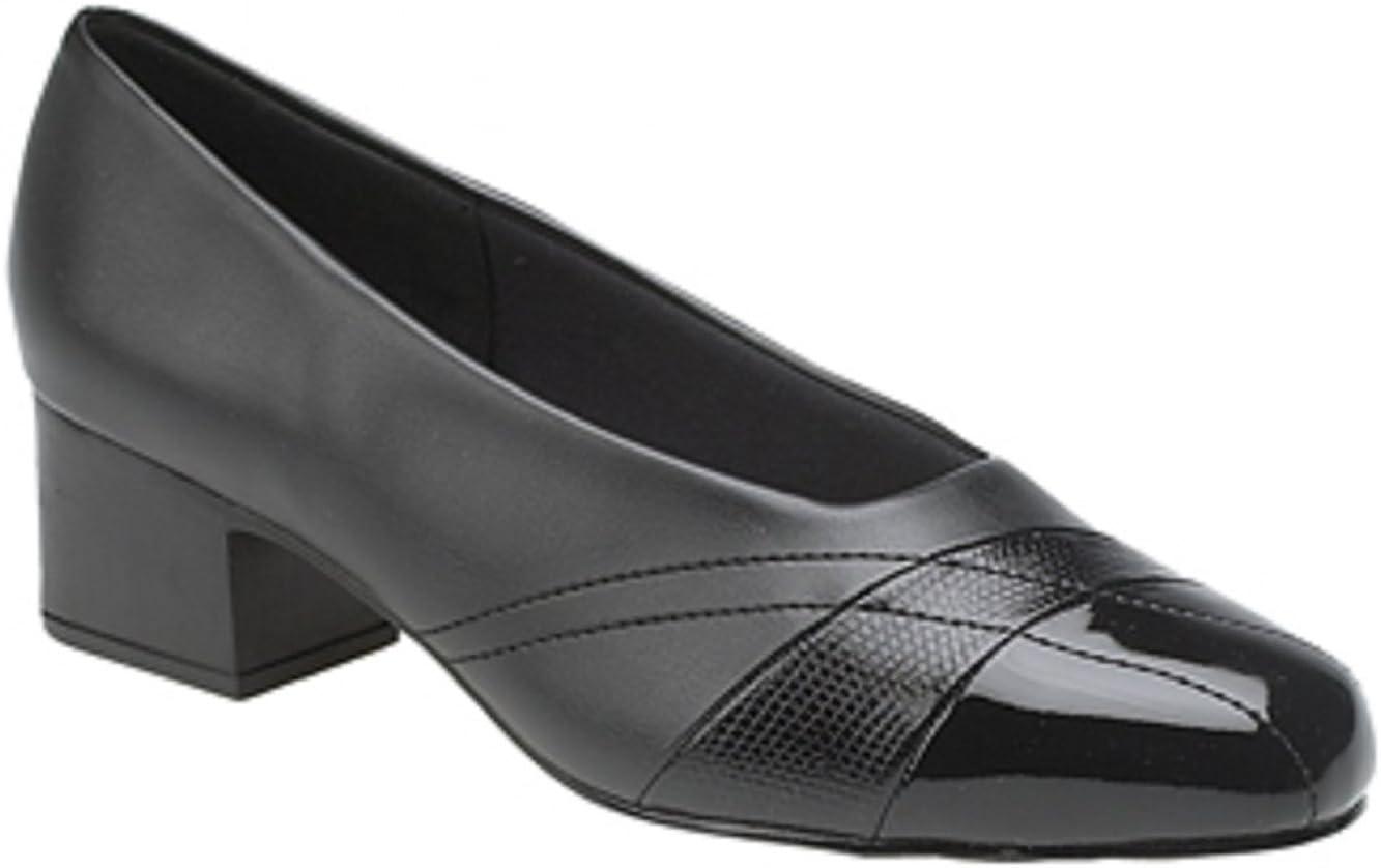 black patent wide fit court shoes