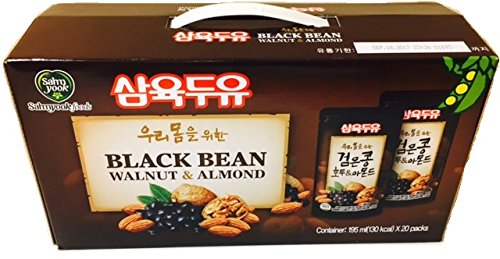Sahmyook Black Bean With Walnut & Almond Soy Milk, 6.5 Fl. Ounce (Pack of 20) by Sahm Yook