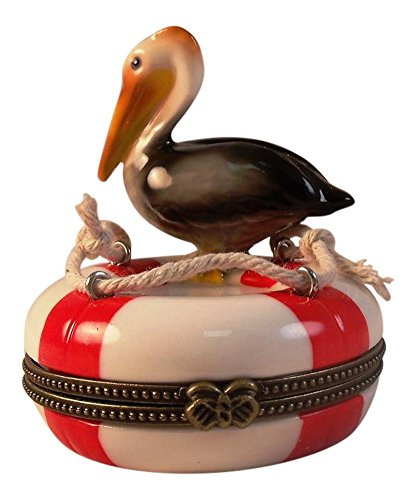 - Pelican Lifesaving Ring Buoy Hinged Trinket Box phb