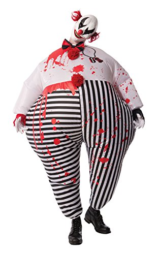 Circus Scary (Rubie's Costume Co Men's Inflatable Evil Clown Costume, Multi, Standard)