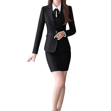 96d022d27fe8 Image Unavailable. Image not available for. Color: Women's 2 Piece Business  Skirt Suit Set Office Lady ...