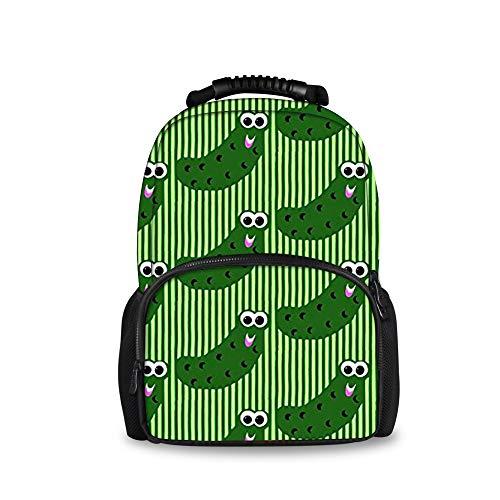 JACINTAN Pickles Kids Blue Backpack Children Large School - Handle Pickle Short