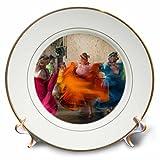 3dRose Mexico, Oaxaca, Mexican Folk Dance 01 Plate, 8''