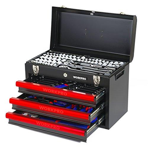 workpro-w009044a-mechanics-tool-set-with-3-drawer-heavy-duty-metal-box-408-piece