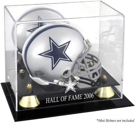 Mounted Memories Hall Of Fame Helmet (Dallas Cowboys 2006 Hall of Fame Golden Classic Cowboys Logo Mini Helmet Case)