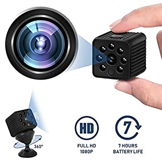 DON PEREGRINO C1 1080P Wireless Hidden Camera 7 Hours Running, Mini Spy Camera with Night Vision & Motion Detection(Without WiFi)