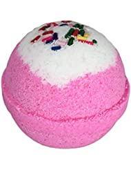 Birthday Cake BUBBLE Bath Bomb in Gift Box - Large Lush Pink Cupcake Bath Fizzy By Two Sisters Spa - Homemade by Moms in the USA - Relaxing, Moisturizing, Fun Gift for All Ages