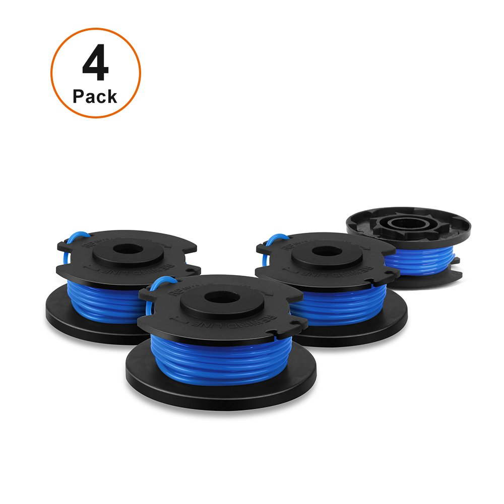 V VONTOX Line String Trimmer Replacement Spool suitable for Ryobi string trimmer, 4 pack for replacement, 0.065''