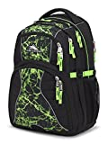 High Sierra Swerve Laptop Backpack, Great for High School, College Backpack, School Bag, Business Backpack, Travel Pack, Laptop Sleeve, Perfect for Men and Women, Black/Lime Fire/Lime