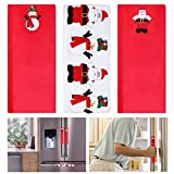 #4: Tinksky Appliance Handle Covers Christmas Santa Claus Refrigerator Door Handle Covers-- Set of 3