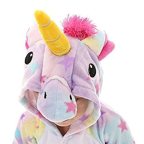 BLIFECOS BELIFECOS Flannel Children Unicorn Cosplay Costume Star Onesie Pajamas for Kids 115 by BELIFECOS (Image #4)