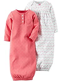 Carter's Baby Girls' 2 Pack Sleeper Gowns (Baby)