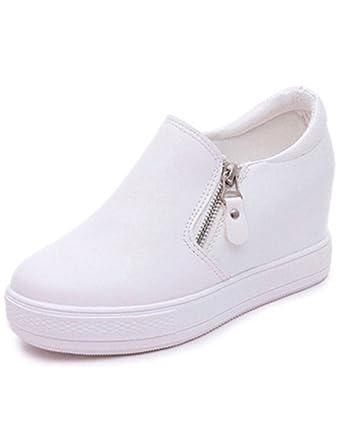 Minetom Mujer Otoño Invierno PU Cuero Botas Botines Plataforma Confortables Suela Gruesa Zapatos: Amazon.es: Zapatos y complementos