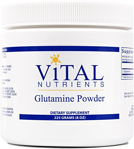 Vital Nutrients - Glutamine Powder - Gastrointestinal and Immune Support - 225 Grams