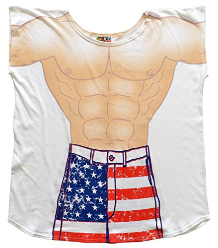 T Shirt With Suit (Men's Cover Up Stars and Stripes Guy)