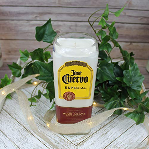 Jose Cuervo Gold Tequila Liquor Bottle Soy Candle with Custom Scent