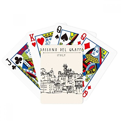 Italy Rome Country Sketch Landscape Poker Playing Cards Tabletop Game Gift by beatChong