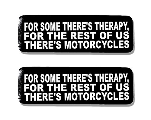 Sticker Hot Helmet Leathers (Hot Leathers, 2 x 4 SOME THERE'S THERAPY - Bikers Motorcycle Helmet, Sticker DECAL (Pair) - 4