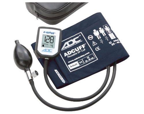 ADC 7002 E-sphyg Digital Pocket Aneroid Sphygmomanometer Blood Pressure Monitor, Reusable BP Cuff, Adult, Navy