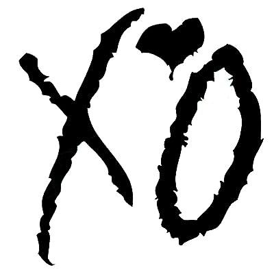 "The Weeknd XO Vinyl Sticker Car Truck Window Laptop Macbook Wall Art (4"" tall, Black): Arts, Crafts & Sewing"