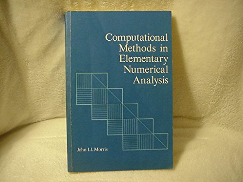 Computational Methods in Elementary Numerical Analysis