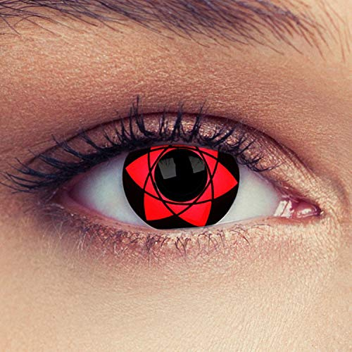 Man Women Colored Eye Lenses A Pair with Case-(US Stock) - -