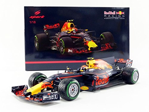 Yellow 18th Scale (Spark Tag Heuer Miniature Car Red Bull RB13China GP 2017, 1: 18Scale 18s305, Blue/Red/Yellow)