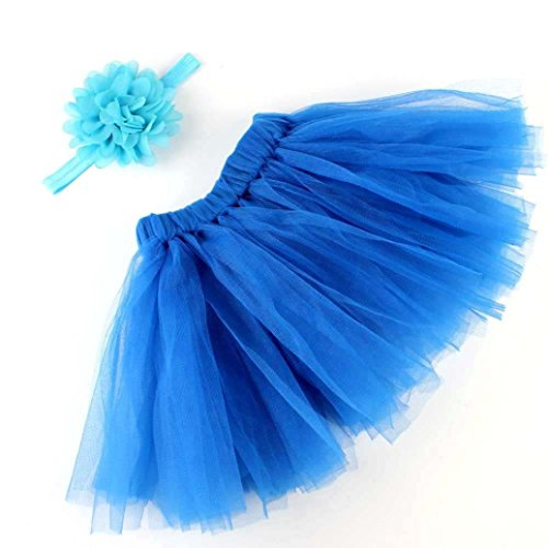 Clearance! Newborn Baby Girls Photo Photography Prop Tutu Skirt Headband Outfit Clothes Set (B Girl Halloween Costume)