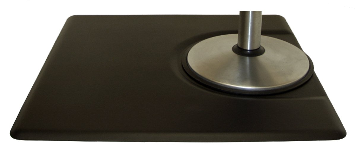 IC Urethane 3' X 4' x 5/8'' (BLACK) Salon Barber Anti-Fatigue Mat Rectangular w/Depression +FREE YS Park Clips ($15 value). BEST Mat in the Industry!