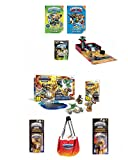 NEW! SKYLANDER (8pc) BUNDLE DEAL: SUPERCHARGERS RACING STARTER PACK, GARAGE STORAGE CASE, 2 FUN PACKS, MYSTERY CHEST, 2 GUIDE BOOKS W/ POSTER (Nintendo Wii)