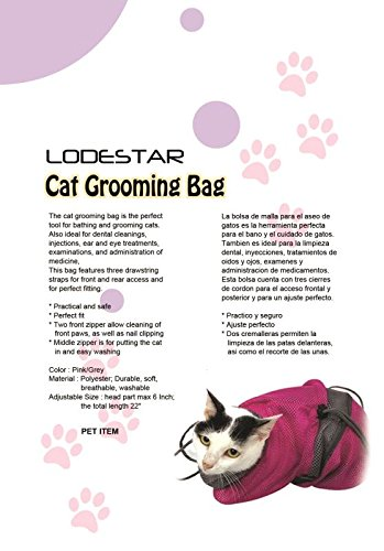 Amazon.com : LODESTAR Cat Grooming Bag & Cat Tunnel Pet Supplies for Bath, Injection, Nail Clipping (Grey) : Pet Supplies