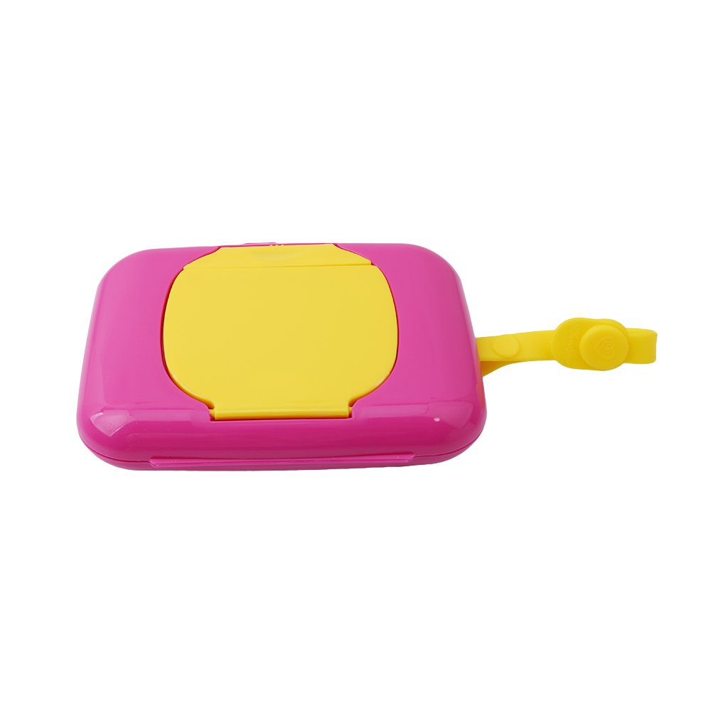 HENGSONG Portable Travel Wipes Dispenser Case for Stroller Diaper Bag (Hot pink + White) mei_mei 9 UK8873231A