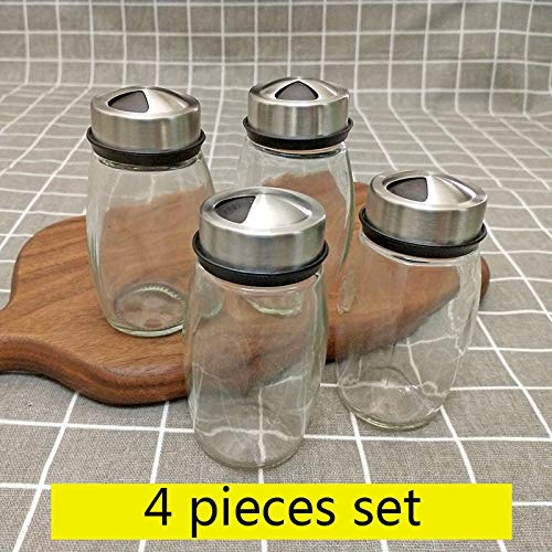 Herb & Spice Tools   Steel Glass Cruet Condiment Spice Jars Set Salt Pepper Shakers Seasoning Sprays ping Rotating Stainless   By ATUTI by ATUTI