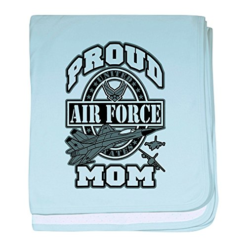 Royal Lion Baby Blanket Proud Air Force Mom Jets - Sky Blue by Royal Lion (Image #1)