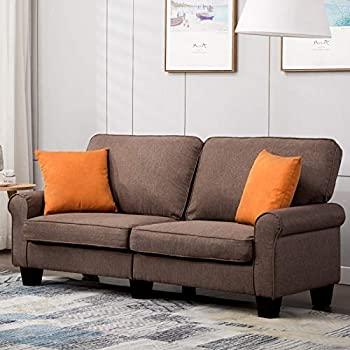Amazon Com Mecor Loveseat Sofa Linen Fabric Loveseat