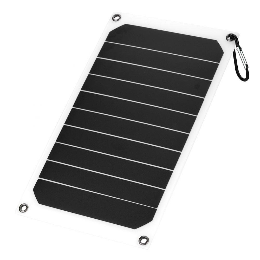 Richer-R Solar Charger, Solar Panel Charger Portable 10W Outdoor IP64 Waterproof Solar Panel Mobile Power Charger 5V USB Output