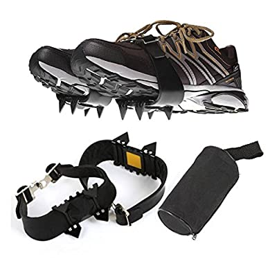 1 paire 4 dents Walk Traction Crampons Crampons antidérapants Glace Neige Grips Grips pour Outdoor Sports d'hiver