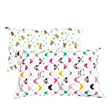 NinkyNonk Envelope Style Toddler Pillowcase Baby Cotton Pillowcase Travel Pillowcase for Pillow Sized 13x18 or 12x16, 2 Pack